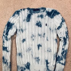 Tie dyed Ralph Lauren chunky knit sweater